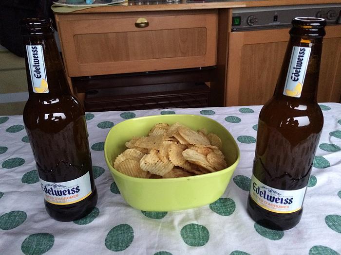 Apéro chips et bière