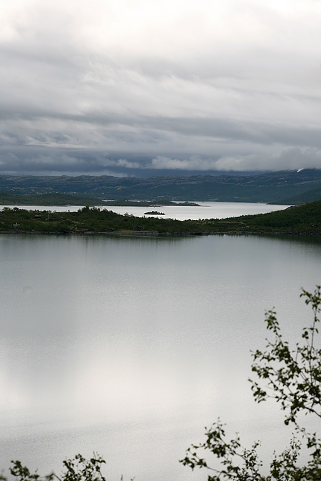 Avant d'arriver à Geilo, succession de lacs