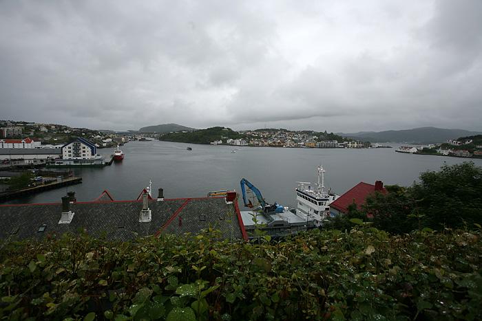 la ville de Kristiansund, avec ses 3 îles