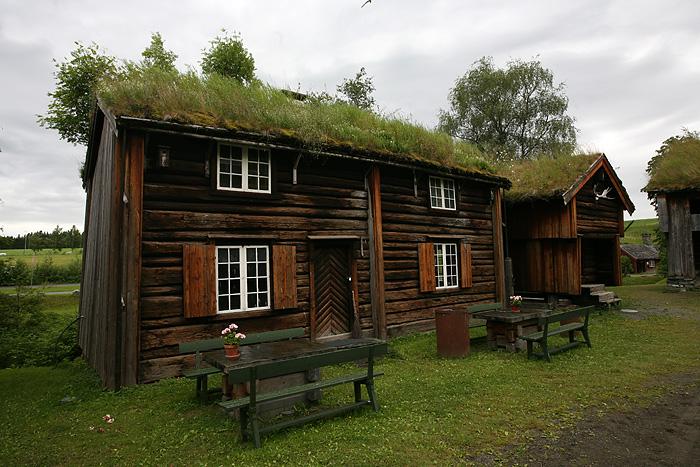 une partie du parc est constituée de maisons anciennes qui ont été déplacées pièce par pièce jusqu'ici