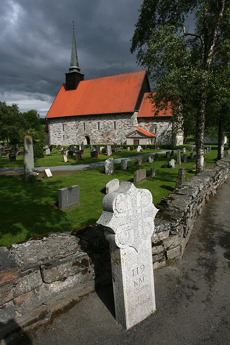 la fameuse église de St Olav