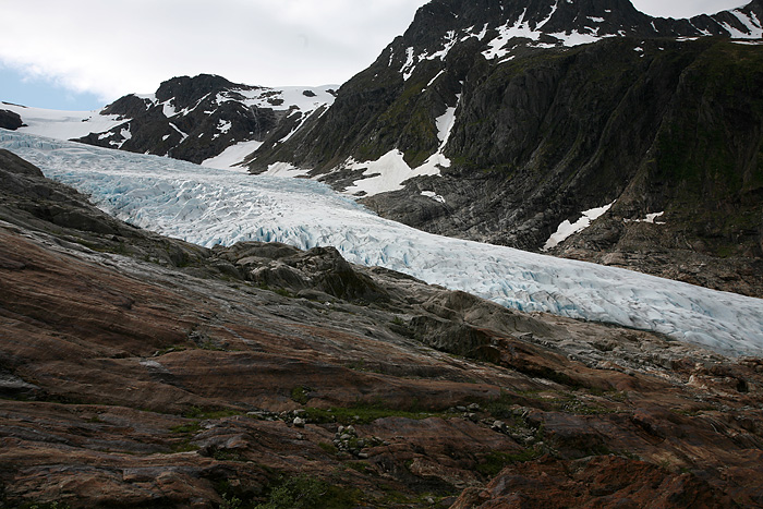 Enfin, le glacier, mais d'un peu loin
