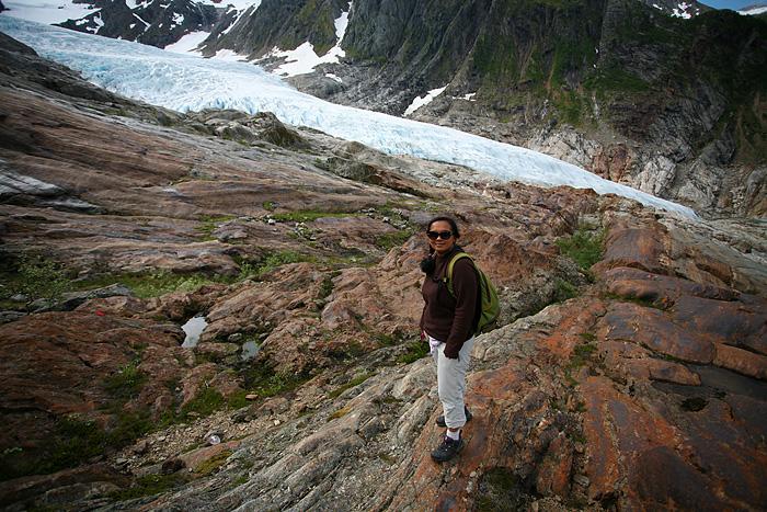 et sur le glacier également