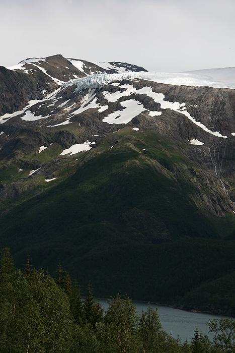 En chemin, nous avons d'autres points de vue sur le glacier de Svartisen