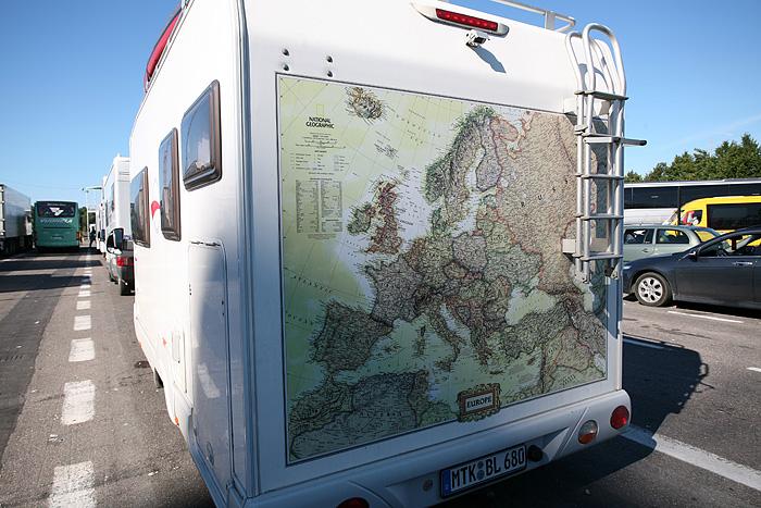 Un allemand a carrément dessiné la carte de l'Europe à l'arrière de son camping-car
