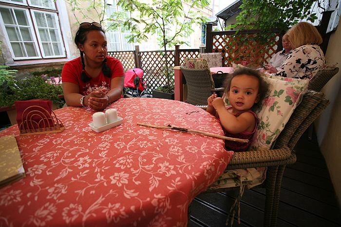 Eden a été sympa pendant tout le repas !