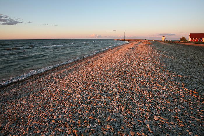 La belle plage de galets