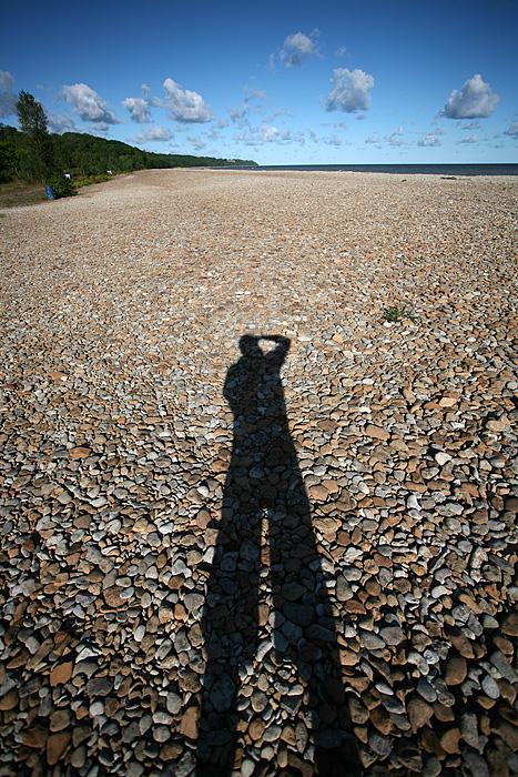 Je sors faire quelques photos sur la plage