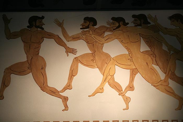 Ils se sont lâchés sur les fresques sur les murs.