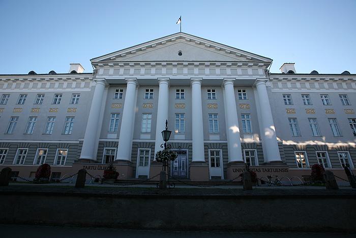 Le très beau bâtiment de l'université de Tartu