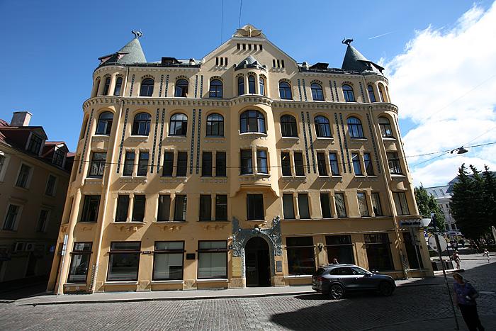 """La fameuse """"maison du chat"""" de Riga"""