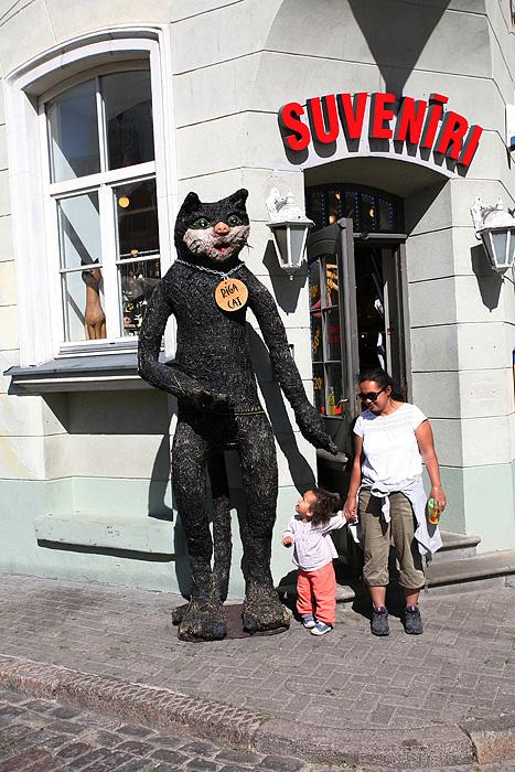 Le chat est devenu le symbole de Riga