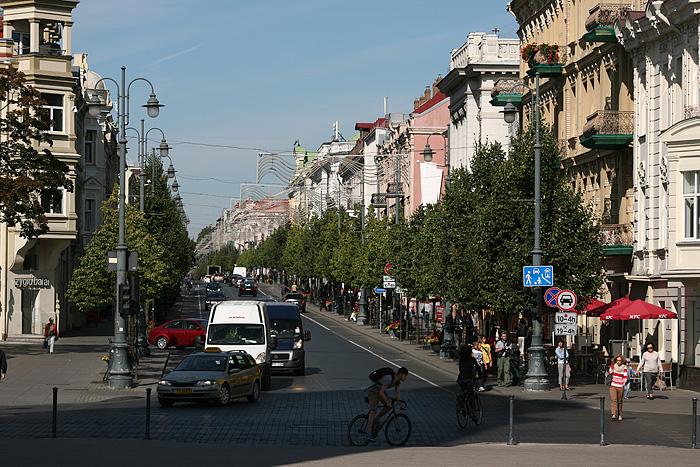 La rue commerçante de Vilnius : Gedimino Prospektas