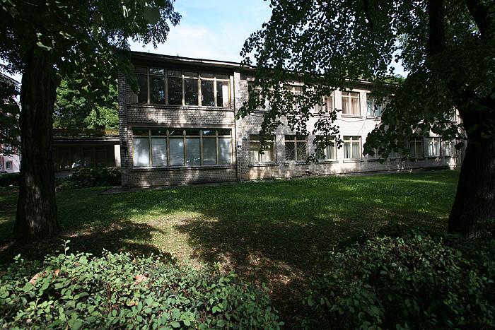 l'école maternelle est située sur l'emplacement de la grande synagogue qui a été détruite par les allemands, puis rasée par les soviétiques