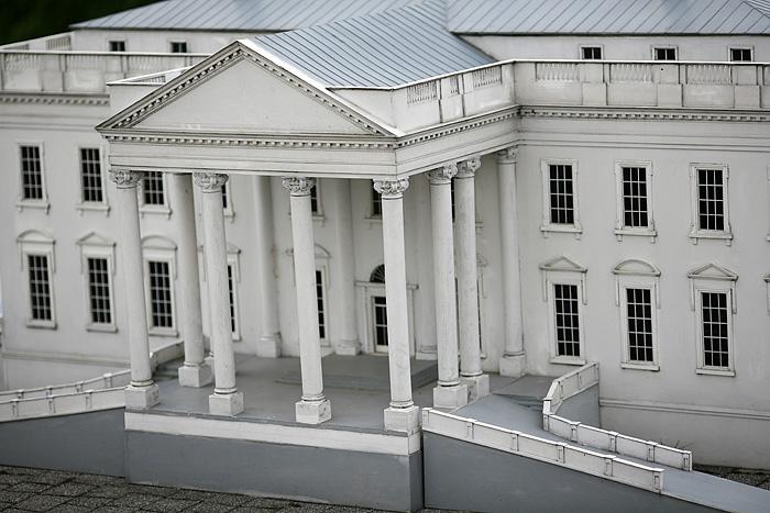 L'entrée de la maison blanche