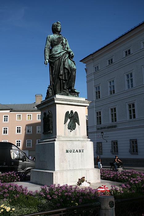 Voilà la fameuse place Mozart