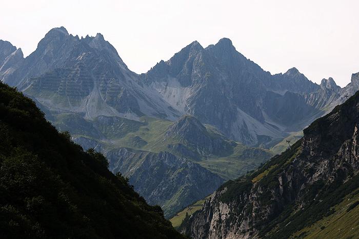 Le paysage depuis là haut