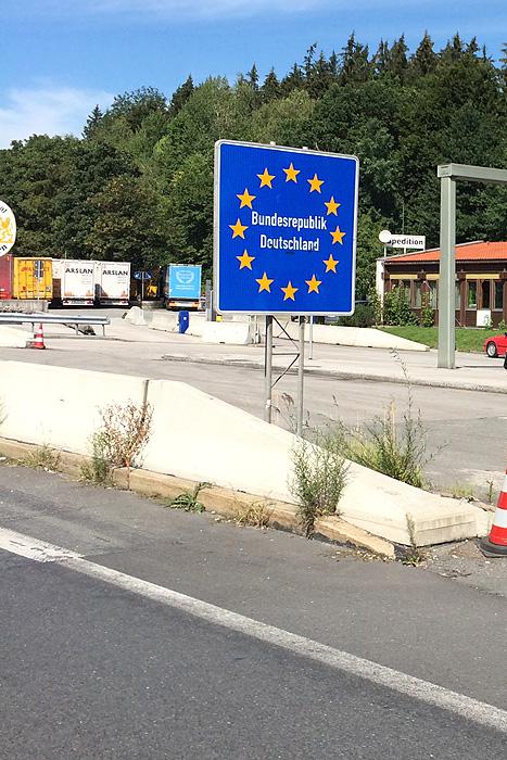 D'abord on sort d'Autriche pour aller en Allemagne