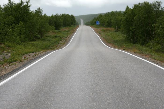 Une grande ligne droite sur 70km (bon, OK, j'exagère un peu...)